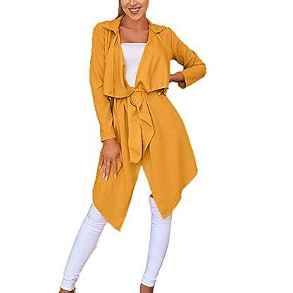 serliy-Damen-Langarm-Lose-Kleid-Solide-unregelmiger-Saum-mit-Revers-Mantel-Graben-Split-Cardigan-lsen-Skinny-Karikatur-Kapuzenmantel-Mantel-Kleidung-langrmlig-Knopfleiste-schne-Langarmshirts