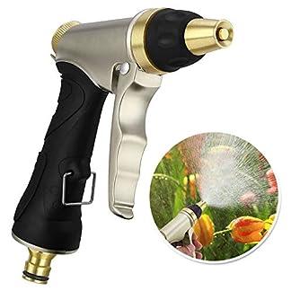 Garten-Handbrause-Hochdruck-Gartenbrause-Garten-Spritzpistolen-fr-Autowaschanlagen-Garten-Bewsserung-Verstellbarer-Wasserdurchfluss-100-Metal