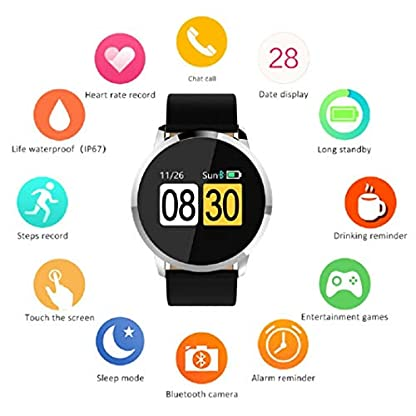 Altsommer-OUKITEL-W1-Smart-Watch-Smart-Uhr-GetrnkeerinnerungIP67Wasserdichtes-SchlafberwachungBluetooth-Smart-Watch-mit-Herzfrequenz-Modus-Intelligent-Armbanduhr