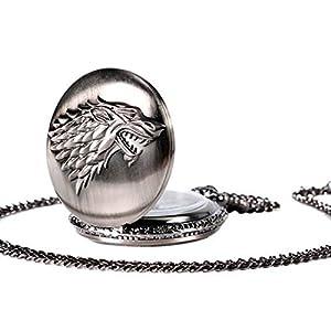 Sky-God-Taschenuhren-dreidimensionale-Wolf-Head-Relief-Quarz-hngende-Uhr-Taschenuhr-Vintage-Glatte-Quarz-Taschenuhr-Klassische-Taschenuhr-mit-kurzer-Kette-fr-Mnner-Frauen