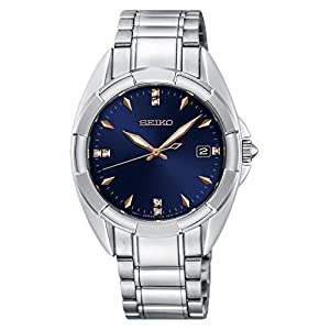 Seiko-Damen-Analog-Quarz-Uhr-mit-Edelstahl-Armband-SKK889P1