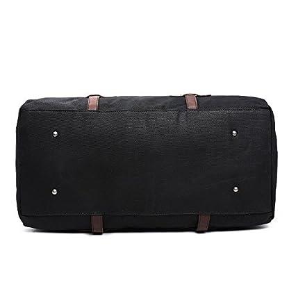 Fresion-Uniex-Segeltuch-Handgepck-Tasche-Canvas-Leder-Reisetasche-Gro-Sporttasche-Duffel-Bags-fr-HerrenMnnerDamenFrauen