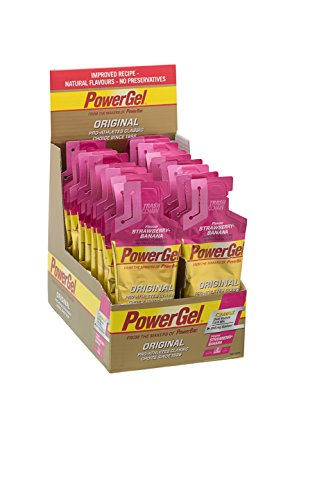 Power Gel Original mit Kohlenhydraten, Maltodextrin & Natrium – Energie Gels – Vegan – Strawberry Banana 24 x 41 g