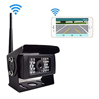 Auto-Digital-WiFi-Rckfahrkamera-12-24V-WiFi-28-IR-Nachtsicht-Wasserdicht-Rckansicht-Kamera-bertragungsentfernung-bis-zu-100FT-fr-iPhone-Android-Tablet-fr-Anhnger-LKW-RV