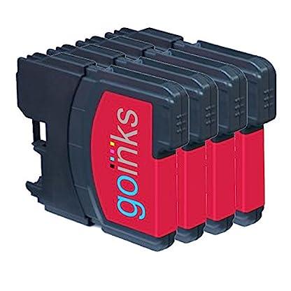 4-Go-Inks-Magenta-Tintenpatronen-ersetzen-Brother-LC980M-LC1100M-KompatibelNicht-OEM-zur-verwendung-mit-Brother-DCP-und-MFC-Drucker