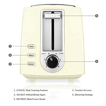CUSIBOX-Toaster-2-Scheiben-Toaster-750W-mit-6-Brunungsstufen-Auftauen-Aufwrmen-und-Abbrechen-Funktionen-BPA-frei-Creme