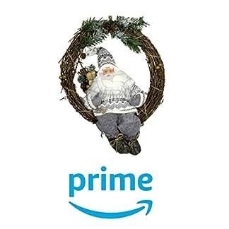 Weihnachtsdekoration-Trkranz-Weihnachtsmann-30-cm-im-Kranz-mit-LED-Licht-Fensterbild-fr-Weihnachten-LED-Weihnachtskranz-Weihnachtsdekokranz