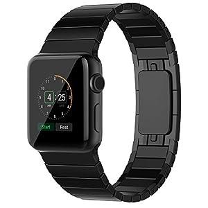 Apple-Watch-Band-SANDAY-Edelstahl-Band-Handgelenk-Band-Ersatz-wMetall-Schliee-Schmetterling-Schnalle-fr-Apple-Uhr-iWatch-alle-Modelle