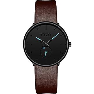 CIVO-Damen-Uhren-Frauen-Uhr-Ultra-Dnne-Minimalistische-Wasserdicht-Mdchen-Luxus-Mode-Armbanduhr-Elegant-Geschfts-Beilufig-Analog-Quarz-Uhren-Braun-Lederband