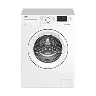Beko-WML-61633-NPS-Waschmaschine-FrontladerA1600-UpMkgliterjahrRestzeitanzeigeKindersicherungWeiss