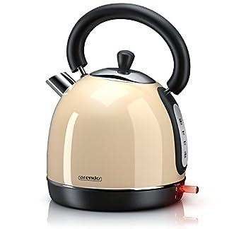 Arendo-Wasserkocher-Retro-3000-Watt-Retro-EdelstahlTeekessel-Schnellkoch-Wasserkocher-Fllmenge-max-18-Liter-automatische-Abschaltung-in-Creme