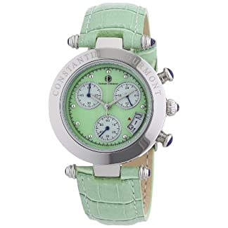 Constantin-Durmont-Damen-Armbanduhr-XS-Visage-Chronograph-Quarz-Leder-CD-VISL-QZ-LT-STST-GR