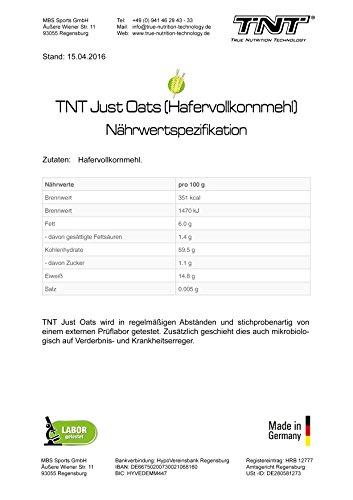 Just Oats Hafervollkornmehl – Instant Hafer-Mehl – Reich an Protein, Kohlenhydrate & Ballaststoffe / 5 kg