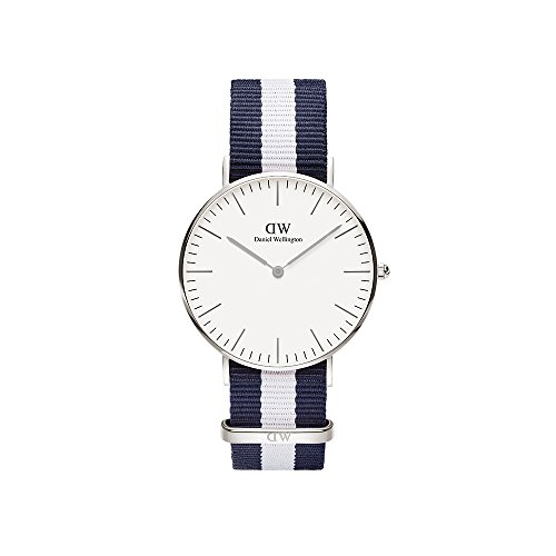 Daniel-Wellington-Damen-Armbanduhr-Glasgow-Analog-Quarz-Nylon-DW00100047