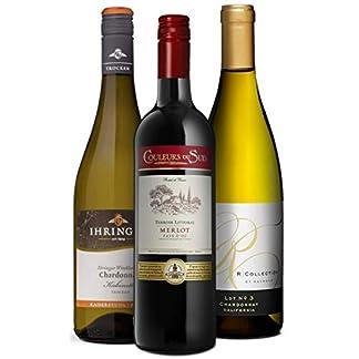 Chardonnay-Entdecker-Set-3-Flaschen-Weiwein-trocken-aus-Frankreich-Deutschland-Kalifornien-Ideal-als-Geschenk-Paket-oder-fr-den-persnlichen-Wein-Genuss