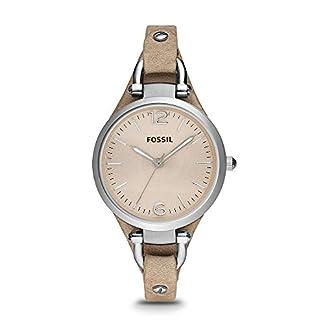 Fossil-Georgia-Damenuhr-silberAnaloge-Vintage-Armbanduhr-im-Boyfriend-Stil-groes-Ziffernblatt-schmales-Lederband