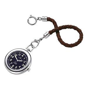 DUGENA-4149874-Taschenuhr-Lepine-mit-Lederkette-Uhr-Unisex-Metall-30m-Analog-schwarz
