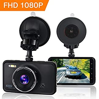 KASSADIN-Dashcam-1080P-Full-HD-Auto-Kamera-DVR-Armaturenbrett-Kamera-Video-Recorder-76-cm-LCD-Display-6G-Objektiv-mit-WDR-Loop-Recording-G-Sensor-Bewegungserkennung