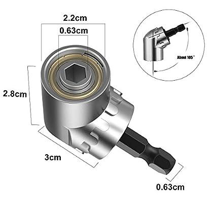 YoungRich-Rechtwinkliger-Bohrer-105–Winkelschrauber-Vorsatz-Adapter-mit-14-Zoll-Schnellwechsel-und-Magnetischen-Bit-Halter-fr-das-Bohren-des-Schmalen-Raumes