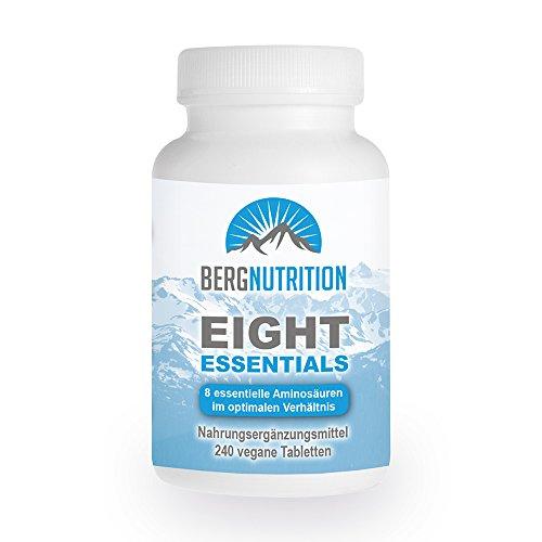 Berg Nutrition Eight Essentials – 8 essentielle Aminosäuren – 240 vegane Tabletten