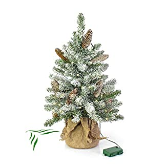 artplantsde-Knstlicher-Kleiner-Christbaum-Wien-grn-Zapfen-beschneit-LEDs-90cm–50cm-X-Mas-Kunsttanne-Kunsttannenbumchen