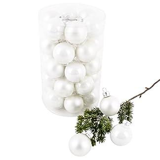 Dadeldo-Living-Lifestyle-Weihnachtskugel-Premium-30er-Set-Glas-4cm-Xmas-Baumschmuck-Weiss