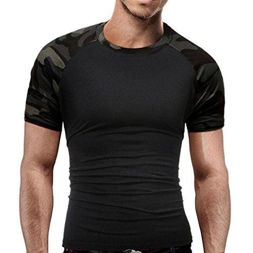 Camouflage-T-Shirt-Herren-URSING-Mnner-Militr-Slim-Fit-O-Ausschnitt-Kurzarm-Blusen-Patchwork-Kurzarmshirt-Vintage-Style-Crew-Neck-T-Shirts-Sportshirt-Freizeit-Hemd-Streetwear-Sommer-Tops