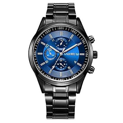 YULINGSTYLE-Mnner-DREI-Augen-Zifferblatt-Uhr-Edelstahl-Grtel-leuchtende-wasserdichte-QuarzuhrGnstige-und-billige-Uhren