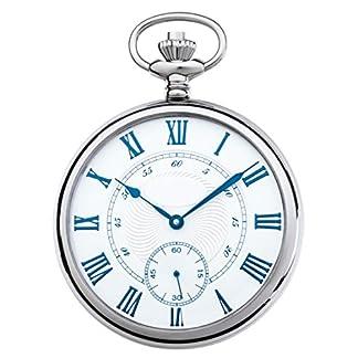JEAN-JACOT-Taschenuhr–Zeitloses-Accessoire-fr-KULTIVIERTE-Herren–Poliertes-Edelstahlgehuse–Kleine-Sekundenanzeige-auf-6–Inklusive-Kette-Gehuse–50-x-12-mm–C335328