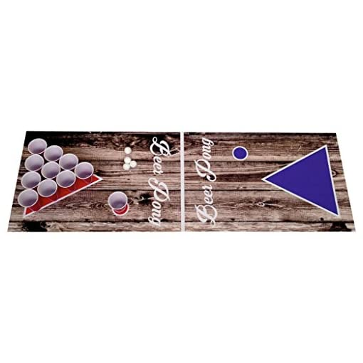 RPN-Beer-Pong-Beerpong-Trinkspiel-Set-Wood-Edition-Spielfeld-220×50-Becher-Blle