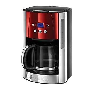 Russell-Hobbs-Digitale-Glas-Kaffeemaschine-Luna-Solar-Red-Brausekopf-Technologie-programmierbarer-Timer