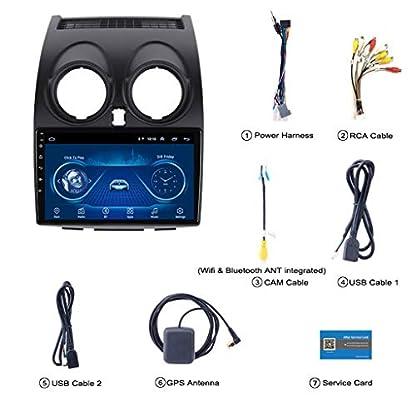 Android-81-Doppel-Din-Autoradio-Mit-Sat-NAV-Bluetooth-Untersttzung-DAB-WiFi-1G-RAM-USB-9-HD-Touchscreen-Fr-Nissan-Qashqai-2007-2015