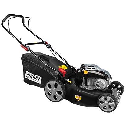 BRAST-Benzin-Rasenmher-30kW-41PS-46cm-Schnittbreite-Stahlgehuse-60L-Fangkorb-Easy-Clean-4-Takt-Motor-Mher-TV-SD