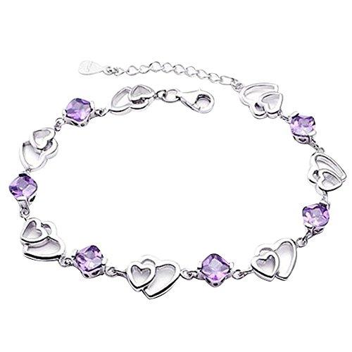Contever® Charm & Bead Kristall ELEMENTS Armbänder 925 Silber Armreif für Damen