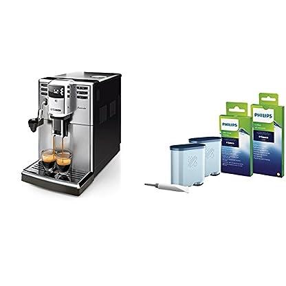 Saeco-HD891401-Incanto-Kaffeevollautomat-AquaClean-automatischer-Milchaufschumer-silber