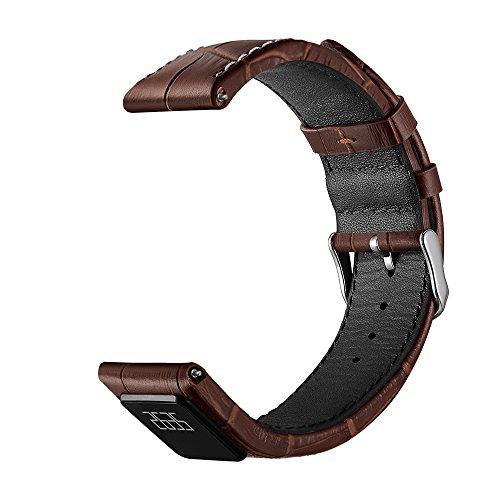 Anself-Echtes-Leder-22mm-Uhrenarmband-mit-Touchscreen-Wasserdicht-Smart-Armband-Schnellwechsel-Uhr-Ersatzband