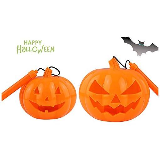 Xiton-kleine-Plastikkrbis-Laterne-Halloween-Partei-Sttzen-Sigkeits-Eimer-fr-Kinder-orange-1PCS