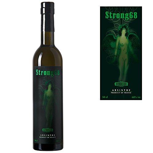 Starker-AbsinthAbsinthe-Strong68-Natrlich-grne-Farbe-erhhter-Wermutgehalt-68-Alkohol-05-Liter