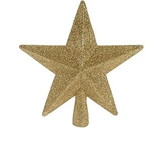 Christbaumspitze-Baumspitze-Stern-gold-Glitzer-20-cm