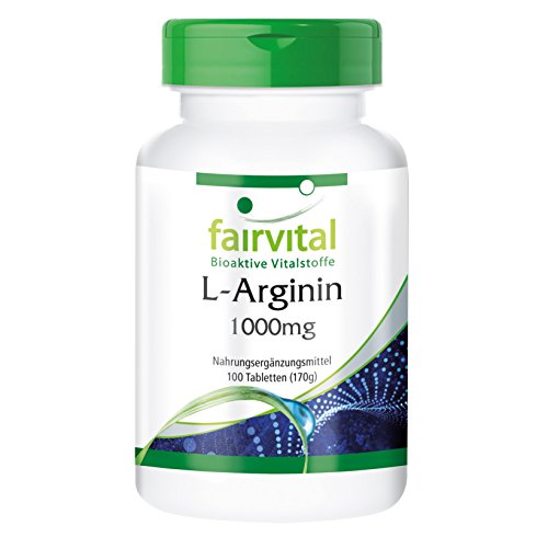 L-Arginin 1000 mg pro Tablette – Arginin hochdosiert – 100 Tabletten – vegetarisch – natürliches Potenzmittel, beliebt für Herz und Gefäße