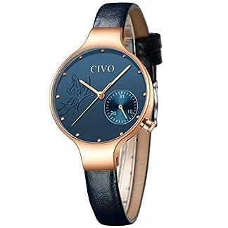 CIVO-Damen-Uhren-Frauen-Minimalism-Designer-Wasserdicht-Armbanduhr-Schwarz-Mode-Business-Elegante-Kleider-Kalender-Analoge-Quarz-Uhren-fr-Dame-Mdchen-Frauen
