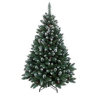 RS-Trade-HXT-15013-knstlicher-Weihnachtsbaum-120-270-cm-mit-Schnee-und-Zapfen-schwer-entflammbarer-Tannenbaum-mit-Schnellaufbau-Klappsystem-inkl-Christbaum-Stnder