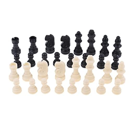 Unbekannt-Sharplace-32er-Set-Kunstoff-Schachfiguren-Ersatzfiguren-fr-Schachspiel