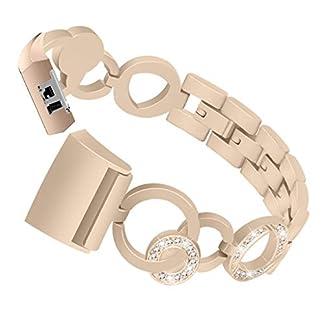 Siswong-Edelstahl-Armband-Ersatz-Mdchen-Kristall-Diamant-Uhrenarmband-Handschlaufe-Armband-Fr-Fitbit-Charge-2-Metall-Ersatz-Ersatzband