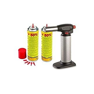 Kemper-Flambierbrenner-Profi-2-Depots-Gas–Micro-Taschenlampe-schaltbaren-piezo-Durchsatz-von-Gas-verstellbar