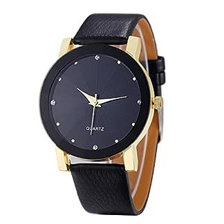 Hansee-Luxus-Quarz-Sport-Armbanduhr-Herren-Militredelstahl-Rundes-Vorwahlknopf-Lederband-Uhren-Unisex-Armbanduhren-Grteluhr