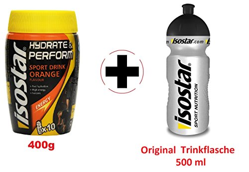 Isostar Hydrate & Perform Orange + Original Flasche | 400g