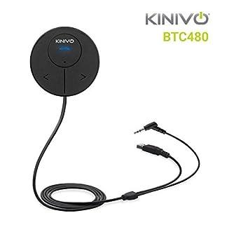 Kinivo-BTC480-Bluetooth-Freisprechanlage-fr-Autos-mit-AUX-Eingangsbuchse-35-mm-Mit-Magnethalterung-Dual-Port-USB-Ladegert-und-Multipoint-Konnektivitt