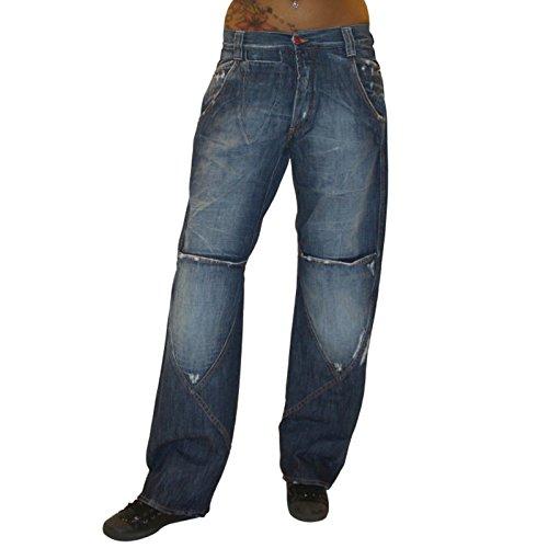 MET Design Damen Jeans Pantaloni Jeanshose Baggy Hip Hop Hose dunkelblau used