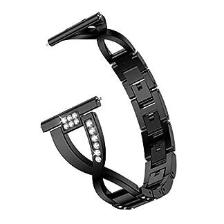 Siswong-Ersatz-Metall-kristall-Armband-Armband-fr-Huawei-Uhr-gt-fr-Huawei-Watch-GT-Armband-Edelstahl-Kristaller-Armband-mit-Diamant-Deko-Armband